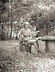 Н.Д. Спирина. Новосибирский Академгородок. 1970-е гг.